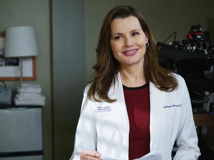 **Geena Davis.** Legendary actress Geena Davis had a role as Nicole Herman, the head of Fetal Surgery at Seattle Grace, for 12 episodes.