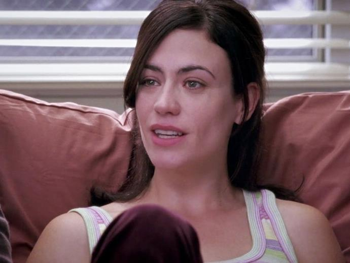 **Maggie Siff** In season four, *Sons of Anarchy* and *Mad Men* star Maggie Siff played Ruthie Sales, who came in with early osteoporosis and died in hospital.