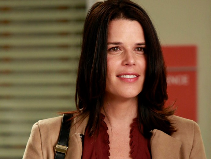 **Neve Campbell.** Neve came in to play one of Derek's sisters, Liz.