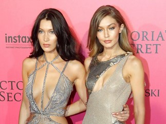 The Hadid sisters just had THE best twinning moment