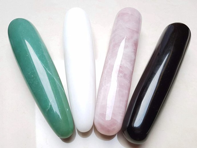 Crystal dildos - to satisfy your inner spirit. <br><br> $234 from [RosieRees](http://rosierees.com/product/wand/).