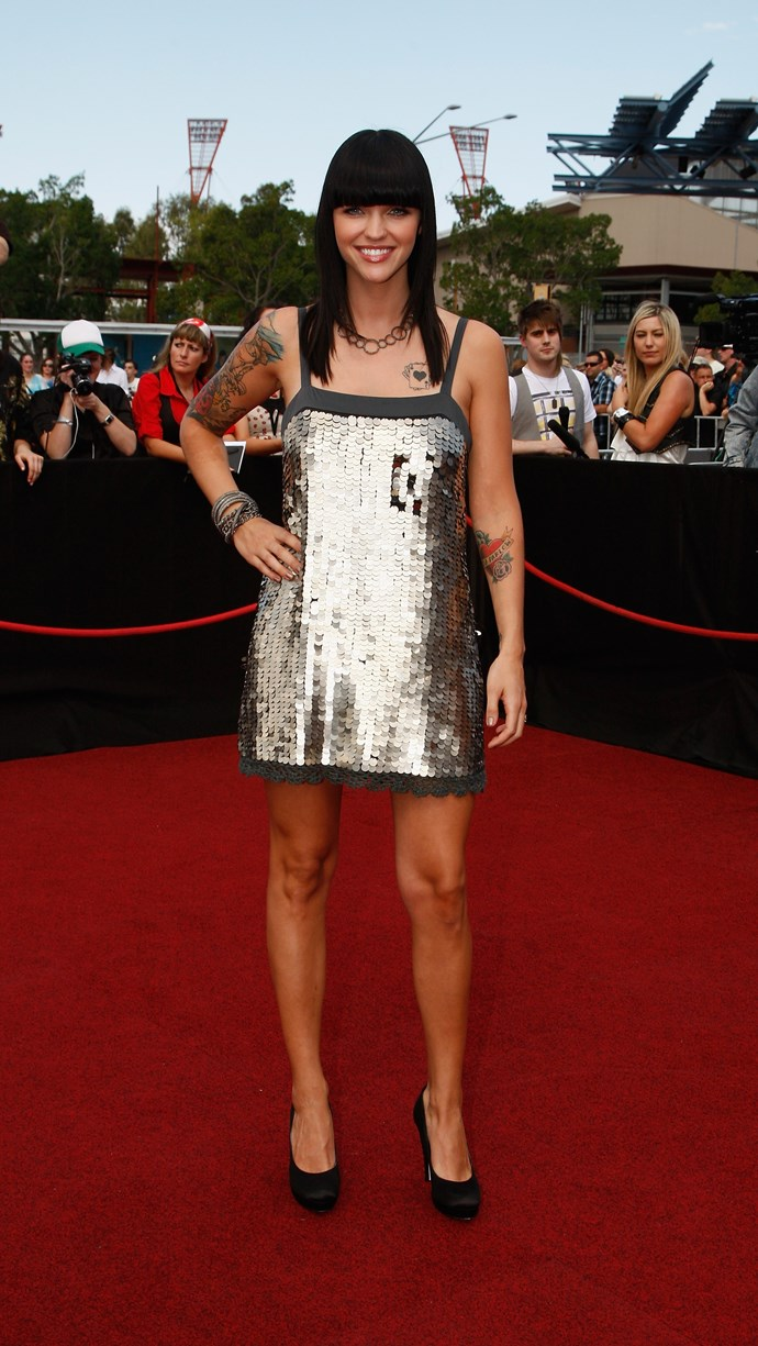 Throw it back to 2008 and Ruby Rose was rocking the full fringe. Hard.