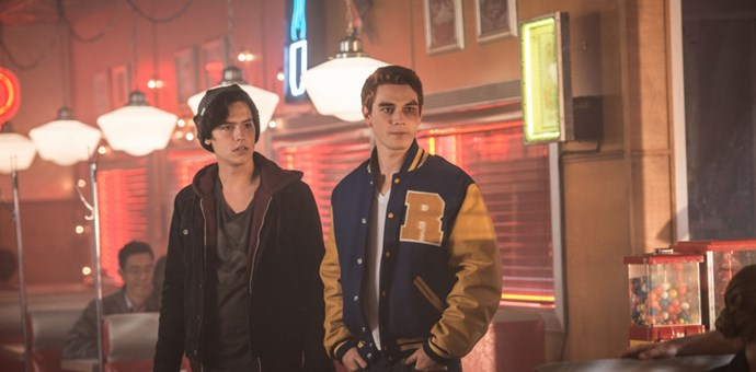 ***Riverdale*** out now on Netflix: Based on the stories of the *Archie* comics, this new series follows a group of ridiculously good-looking teenagers dealing with a mysterious murder.