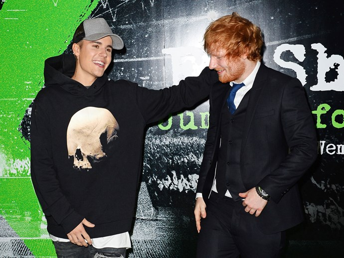 Ed Sheeran and Justin Bieber sing karaoke together in Japan