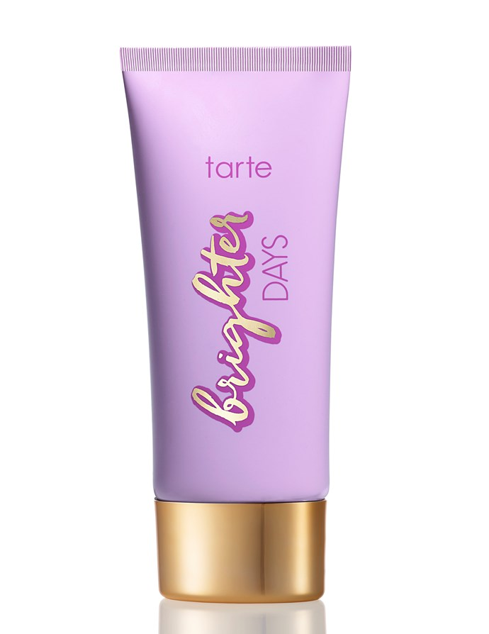 """Tarte Skincare Brighter Days Highlighting Moisturiser, $50, at [Sephora](http://www.sephora.com.au/?gclid=Cj0KEQiAw_DEBRChnYiQ_562gsEBEiQA4Lcssu31cS3Gw4PxeTL00X3YVo4qer2KL9HIEYl4oJGZtyYaAk5M8P8HAQ