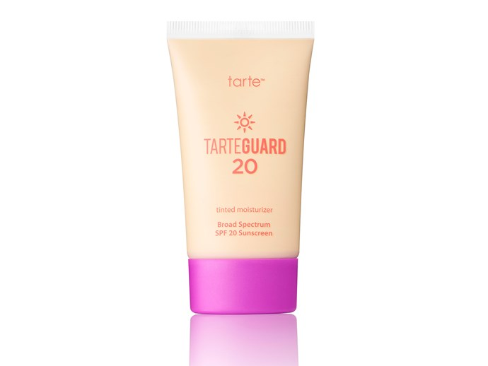 """Tarte Skincare TarteGuard Tinted Moisturiser, $26, at [Sephora](http://www.sephora.com.au/?gclid=Cj0KEQiAw_DEBRChnYiQ_562gsEBEiQA4Lcssu31cS3Gw4PxeTL00X3YVo4qer2KL9HIEYl4oJGZtyYaAk5M8P8HAQ