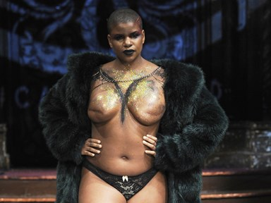 Breast cancer survivors walk the runway topless at empowering NYFW show