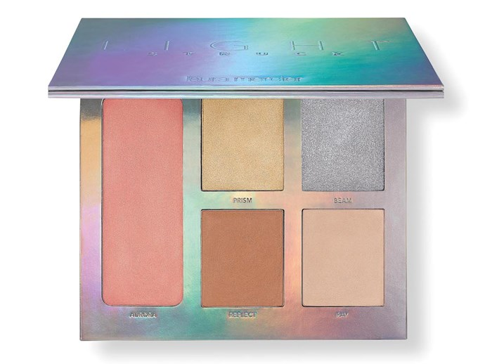 """Laura Mercier have just launched this bad boy into Sephora internationally. The five creme highlighter shades: Aurora, Reflect, Prism, Beam and Ray make the perfect tonal mix for every occasion.    Laura Mercier Lightstruck Prismatic Glow Palette, $65, at [Sephora](http://www.sephora.com/
