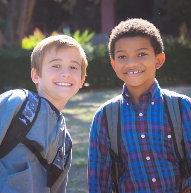 Nine-year-old Kevin (Parker Bates) and Randall (Lonnie Chavis) are IRL BFFLs.