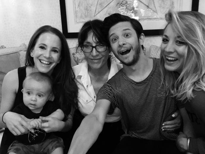 **8 Simple Rules**  Amy Davidson (and her adorbs son), Katey Sagal, Martin Spanjers and Kaley Cuoco re-lived their days as the Hennessy family.