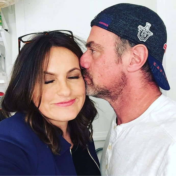 **Law & Order: SVU**  Detective Elliot (Christopher Meloni) and Olivia Benson (Mariska Hargitay) had a very sweet Valentine's Day reunion this year.