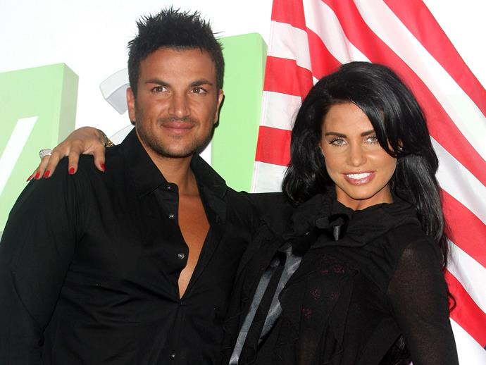 **Jordan (Katie Price) and Peter Andre**  Although her first four children have relatively normal names (Bunny, Harvey, Jett and Junior), Jordan's daughter **Princess Tiaamii Crystal** with Peter Andre probably got the most out-there name.