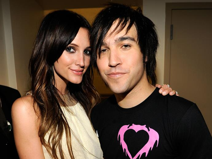 **Ashleey Simpson and Pete Wentz**<br><br>  During their brief marriage, Pete Wentz and Ashlee Simpson welcomed a son named **Bronx Mowgli**.