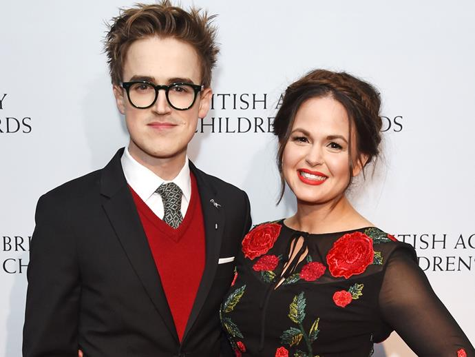 **Tom Fletcher**<br><br>  He like his alliterations... Musician Tom Fletcher's sons are named **Buddy Bob** and **Buzz Michelangelo.**