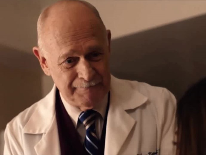 **Gerald McRaney**  Dr. K is the sweetest obstetrician! Gosh he makes us cry, with his powerful words of wisdom and ability to keep everyone calm when there are three babies coming into the world…
