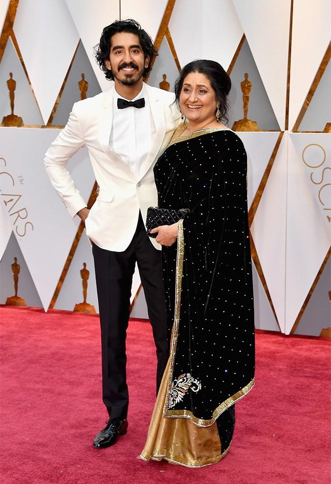 Dev Patel and his mum <3