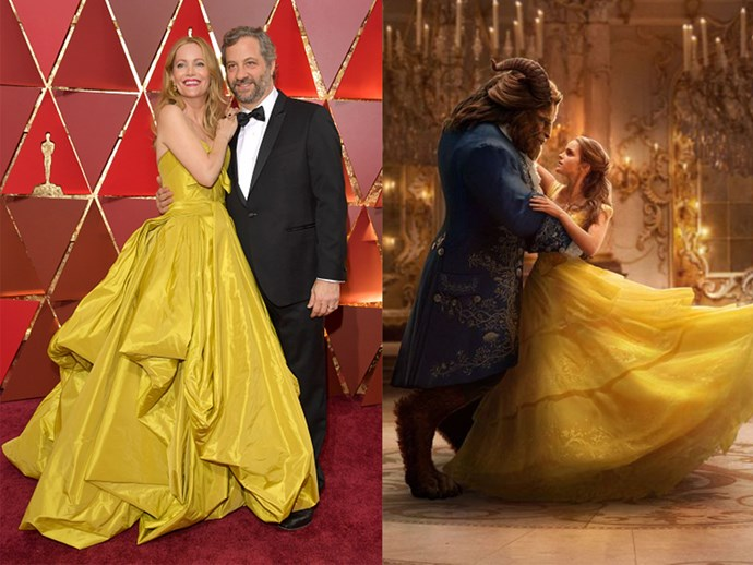 Leslie Mann and Judd Apatow? Or new *Beauty and The Beast* promo?