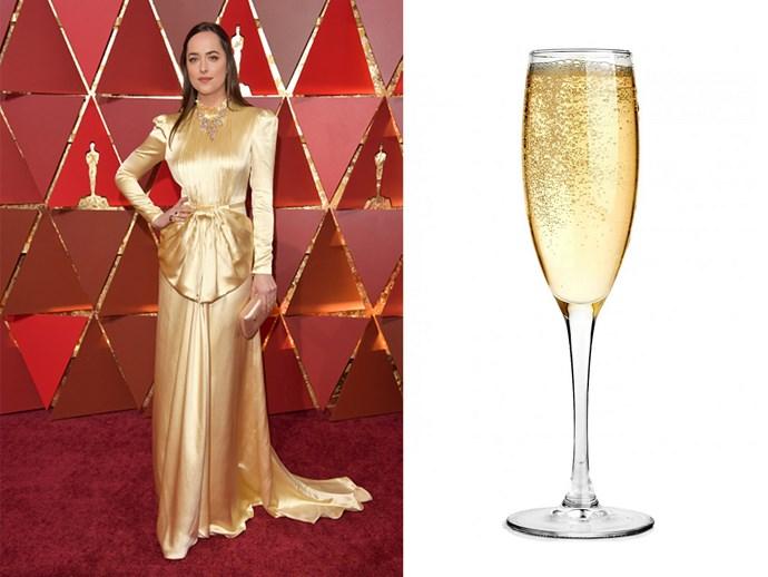 Dakota Johnson? Or a glass of bubbly?