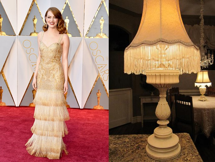 Emma Stone? Or a golden tassel lamp in your nan's house?
