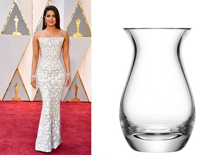 Priyanka Chopra? Or a lovely clear vase?
