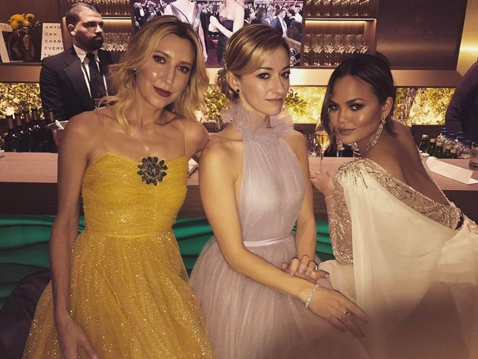 Chrissy Teigen posed with her pretty pals.