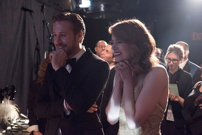 Ryan Gosling and Emma Stone were TOO cute backstage.