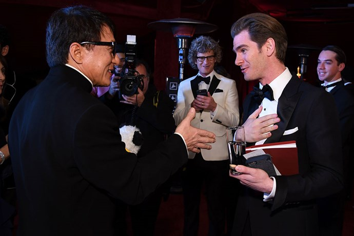 Andrew Garfield was so excited to meet Jackie Chan!