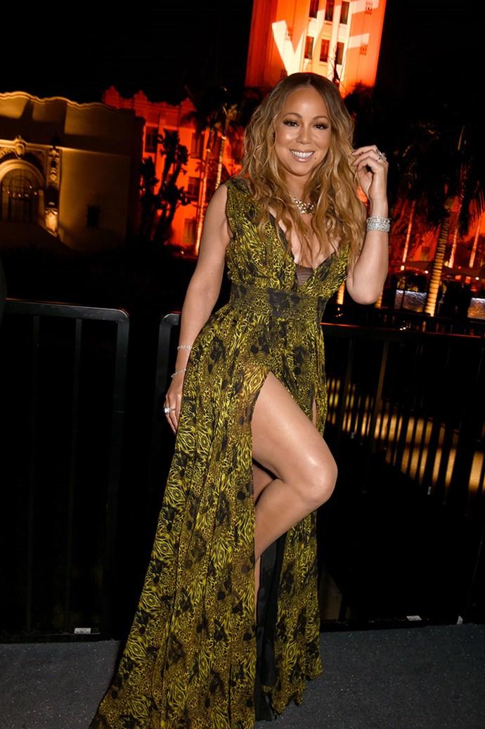 Mariah Carey got leggy.