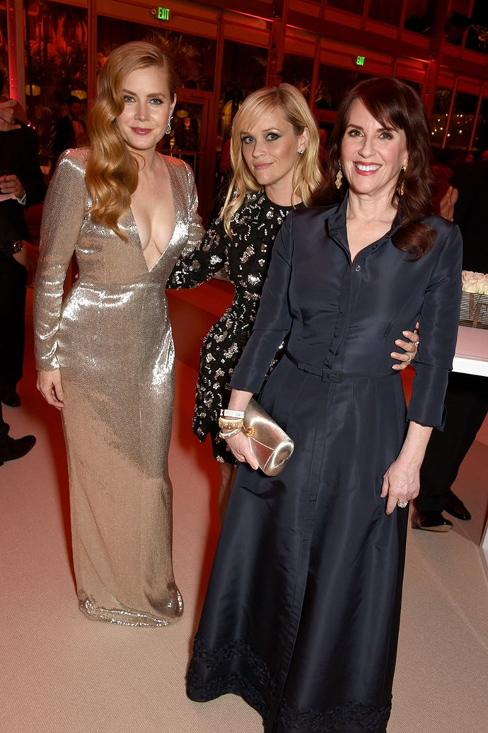 Amy Adams, Reese Witherspoon and Megan Mullaly hung out at *Vanity Fair*.