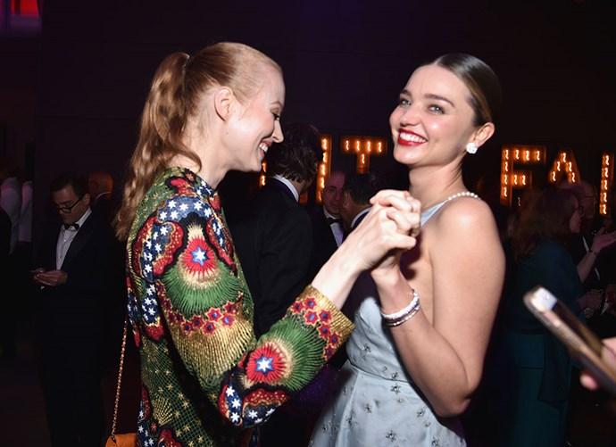 Miranda Kerr danced with a pal.
