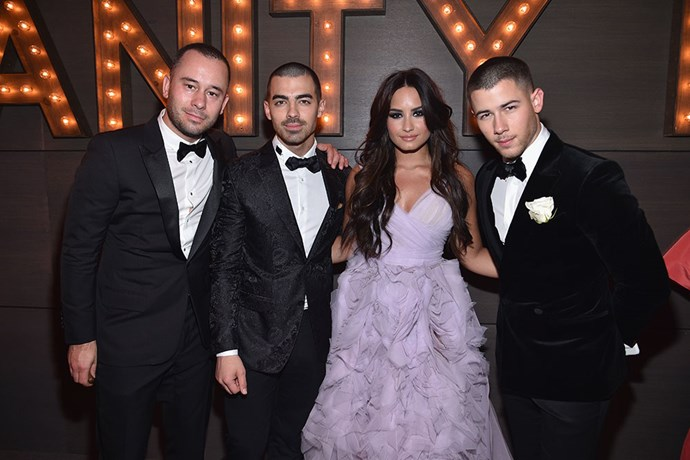 Demi Lovato reunited with two-thirds of the Jonas Brothers, Joe (her ex-BF) and Nick.