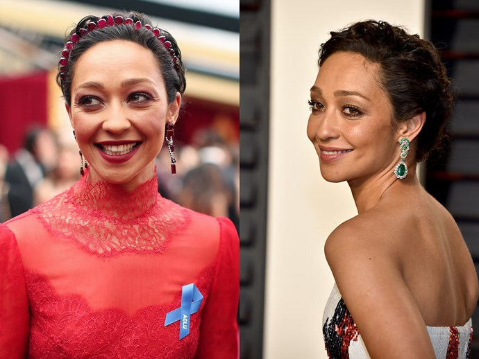 Ruth Negga's Gemfields x Irene Neuwirth headpiece at the Oscars was the perfect way to dress up short hair, but her soft waves at the after party were the kind of elegant we'd wear on the weekend.