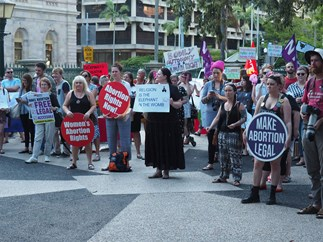 Abortion protest Queensland