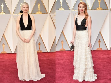 18 times celebrities basically wore the same dress at the Oscars