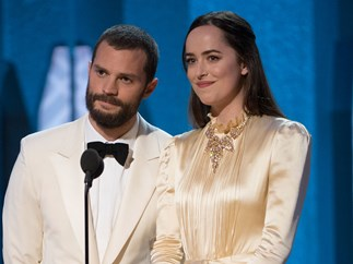 Jamie Dornan Dakota Johnson Oscars 2017