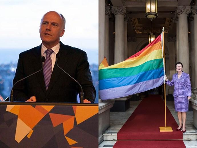 Eric Abetz rainbow flag