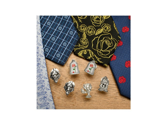 [*Beauty and the Beast* cuff links and ties by CuffLinks.com](http://www.cufflinks.com/shopbydesigner/disney.html?dir=asc&p=clear&cat=1921/).