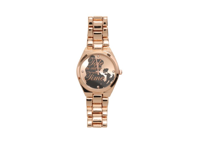 [*Beauty and the Beast* watch by Hot Topic](http://www.hottopic.com/product/disney-beauty-and-the-beast-belle-rose-gold-watch/10767406.html).