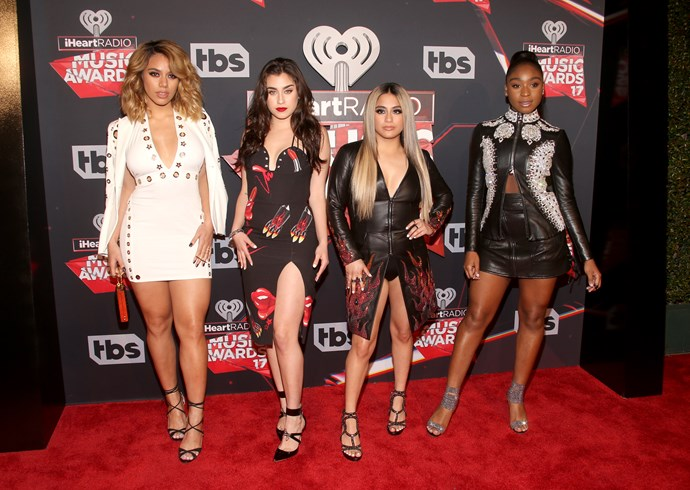 *Fifth Harmony* went full-fire for the event, dressed in plunging necklines and thigh-high split styles.