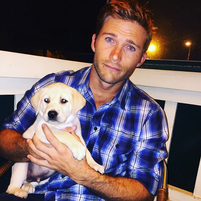 Scott Eastwood and a puppy? Yes please.