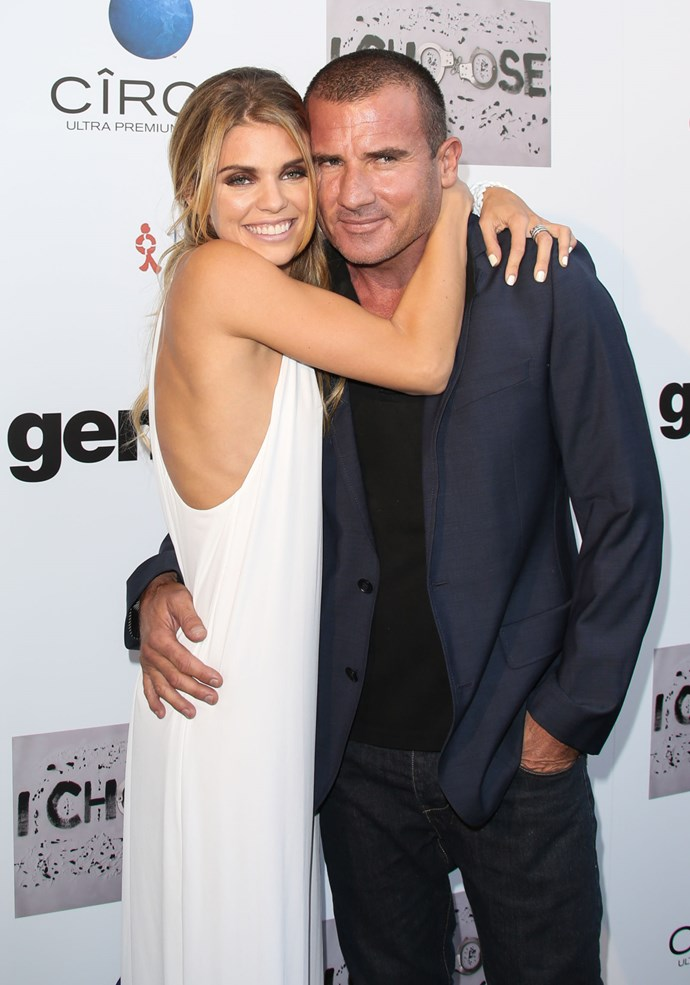 **5. ANNALYNNE MCCORD AND DOMINIC PURCELL**  Age difference: 17 years. AnnaLynne is 29 and Dominic is 46.
