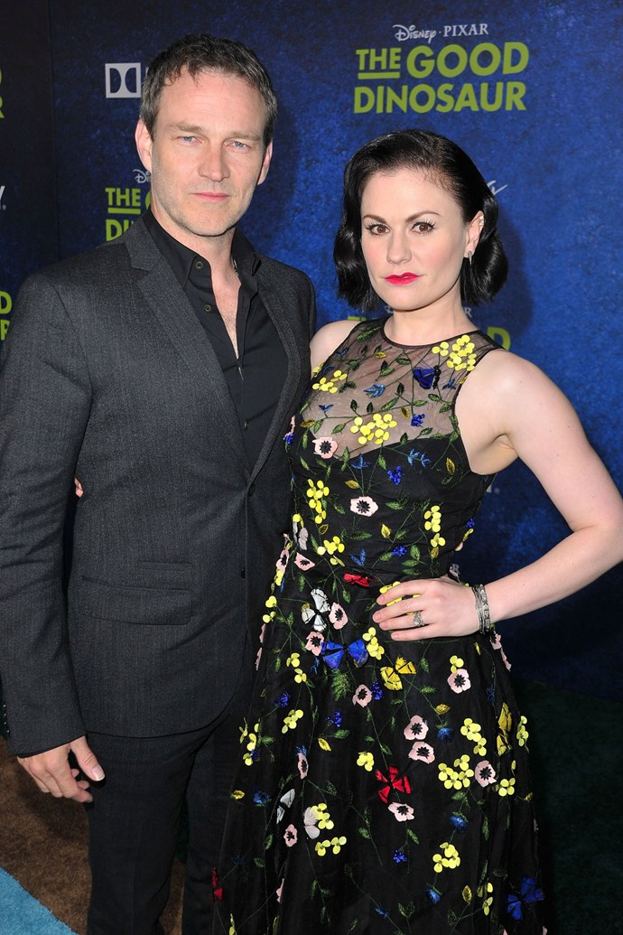 **8. ANNA PAQUIN AND STEPHEN MOYER**  Age difference: 13 years. Anna is 34 and Stephen is 47.