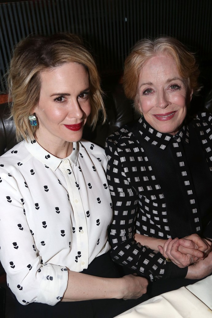 **10. SARAH PAULSON AND HOLLAND TAYLOR**  Age difference: 32 years. Sarah is 42 and Holland is 74.