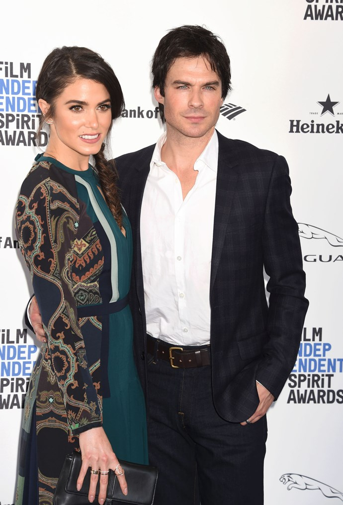 **11. IAN SOMERHALDER AND NIKKI REED**  Age difference: 10 years. Ian is 38 and Nikki is 28.