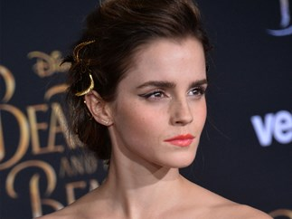 Emma Watson helps interviewer with pen on her face