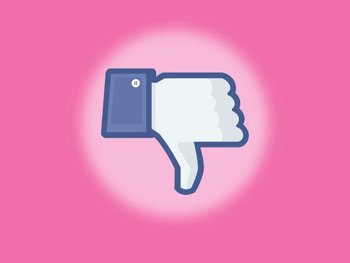Facebook dislike button.
