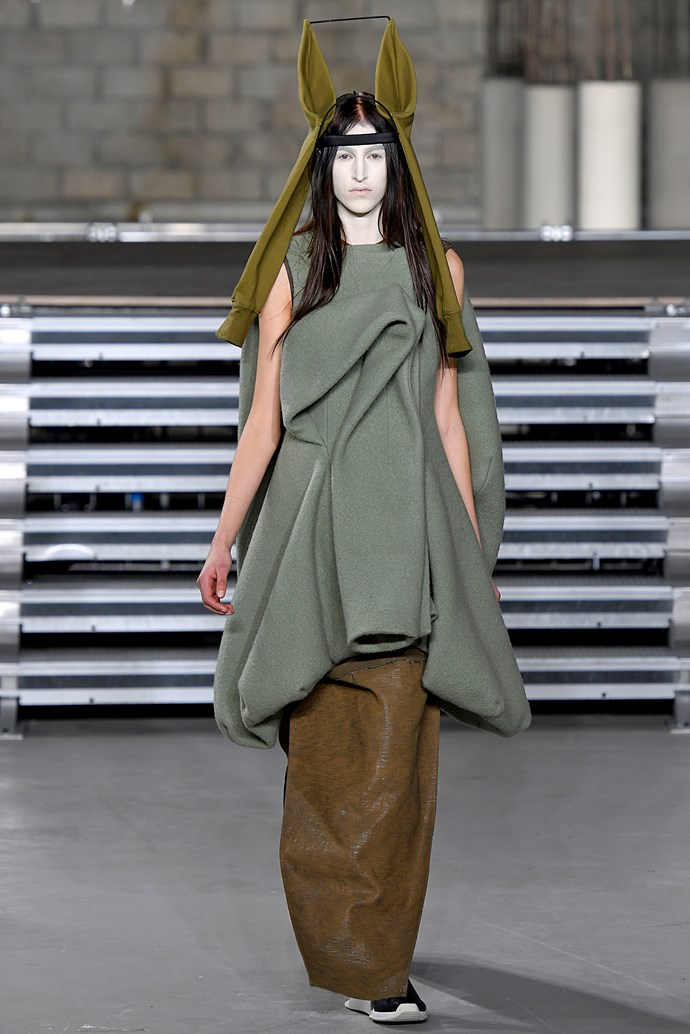 **WHERE:** Rick Owens  **WHAT:** Er, Yoda called. He wants his outfit back.
