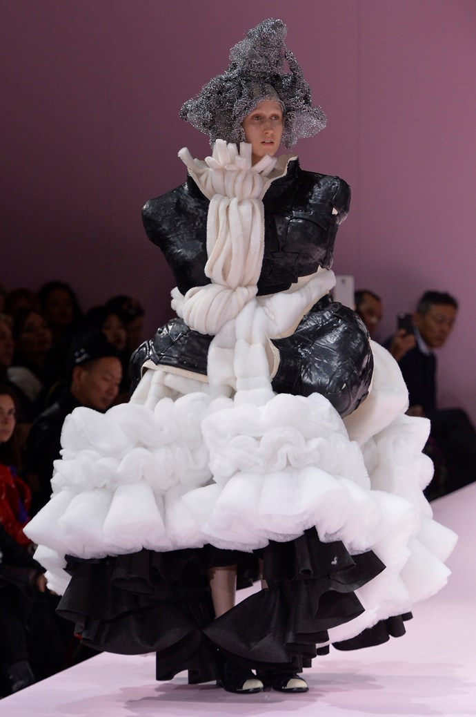 **WHERE:** Comme des Garcon  **WHAT:** An Oompa Loompa, on 'roids.