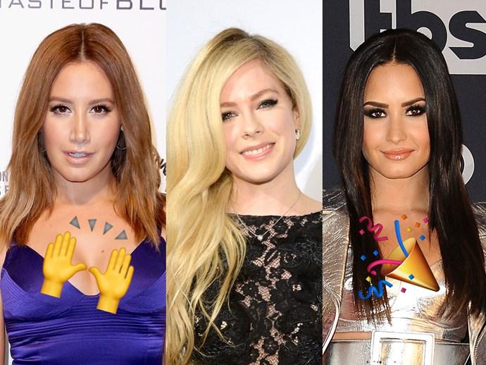 Ashley Tisdale, Avril Lavigne and Demi Lovato