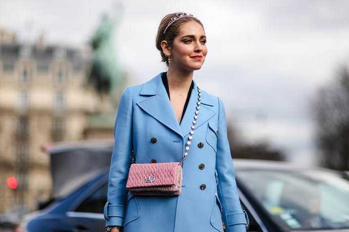 Even famous fashion blogger *The Blonde Salad* (Chiara Ferragni) donned the princess piece and boy, does she look regal.